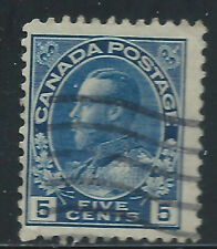 Canada #111(3) 1914 5 cent dark blue KING GEORGE V Used CV$2.00
