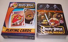 ANGRY BIRDS STAR WARS jugando a las cartas juego por Cartamundi Nuevo y Sellado Regalo DISNEY