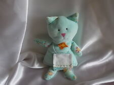 Doudou chat à broder, turquoise, DMC, Blankie/Lovey/Newborn toy