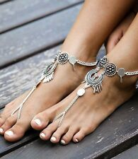 Tassel Foot Ankle Chain Jewelry Women Retro Barefoot Sandal Beach Anklet