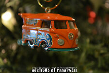 Custom Volkswagen T2 Bus Christmas Ornament VW Van 1/64th Samba Camper T1 RARE!