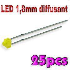 365/25# LED 1,8 mm jaune diffusant 25pcs