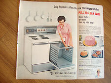 1961 Frigidaire Electric Range Ad Pull 'N Clean Oven