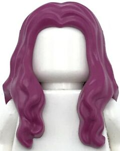 Lego New Magenta Minifigure Hair Long Wavy with Center Part 50 Pieces