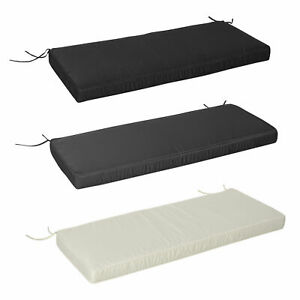 Garden Bench Cushion 2 Seater Seat Pad, 120x50x8cm, Indoor & Outdoor Use