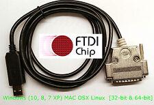 FTDI USB Serial DNC Programming DB-25 Male ST 25M DCE