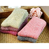 5 Pairs Women Wool Cashmere Thick Winter Warm Socks Soft Solid Casual Sports