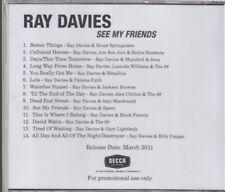 ray davies see my friends cd promo bruce springsteen metallica mumford & sons