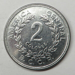 Costa Rica 2 Colones 1983(cc) Stainless Steel KM#211.1 UNC