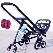 New!Portable Stair Climbing Folding Cart Climb Moving Hand Truck Carbon Steel