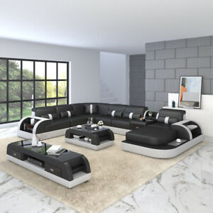 U Shape Sofa Couch Pads Set Interior Design Corner Sofa Leather Pads