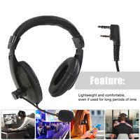 Headset Head-mounted Earpiece PTT MIC Headphone for Baofeng UV5R Walkie Talkie