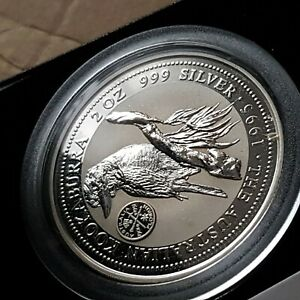 Australia kookaburra 2oz speciman Silver Proof Coin .1995 federation privy Mark.