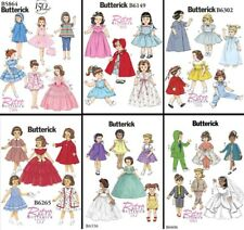 """Butterick Sewing Patterns Vintage Style Clothes for 18"""" Dolls - 6 to Choose From"""