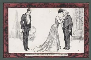 GB - Studies in Expression, Uncle Joe comic postcard by C. D. Gibson (T318)
