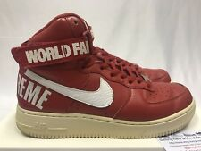 pretty nice 4c2fc bdb42 SUPREME NIKE 14AW AIR FORCE 1 HIGH SUPREME sneaker Red US 9