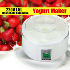 220V 1.5L 6 Cups Electronic Automatic Yogurt Buttermilk Sour Cream Maker Machine