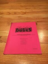 Bad Dudes Video Arcade Game Operation & Service Manual, Data East 1988