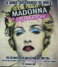 Madonna 2009 Celebration promo Big static cling window sticker New Old Stock