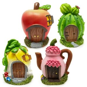 Fairy Garden Houses, CACTUS APPLE TEAPOT FLOWER Enchanted Forest Decor, YOU PICK