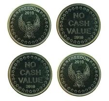 New L1 Eagle Freedom No Cash Value tokens for Sunbed Tanning Coin Meter  x 50