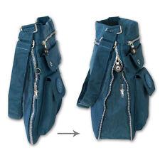 Schultertasche blau Nylon Damen Crossover Handtasche Umhängetasche OTJ206T
