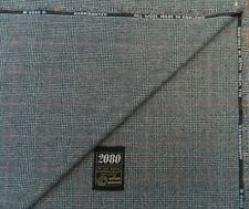 ARTHUR HARRISON  '2080 FLANNEL' ALL WOOL FABRIC BLACK/WHITE MADE IN ENGLAND 3.5M