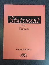 Statement for Timpani - Garwood Whaley Book !