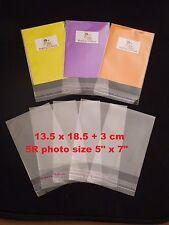 100 CELLOPHANE BAGS -13.5 cm x 18.5 cm +3 cm - 5R size -SELF SEAL - Free Postage