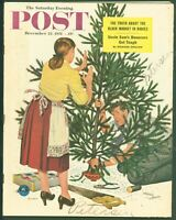Saturday Evening Post December 22, 1951 Christmas Tree Cover