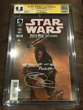 STAR WARS: DARTH MAUL SON OF DATHOMIR #1 CGC 9.8 SIGNED & QUOTE RAY PARK VARIANT