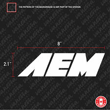 2X  AEM INTAKES sticker vinyl decal