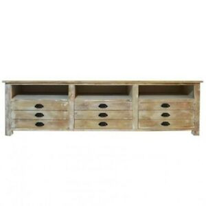 Clovelly Carlton Rustic Mango Wood TV Stand Entertainment Unit (MADE TO ORDER)