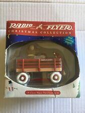 Radio Flyer Christmas Collection Wood Wagon With Bear Tabletop Ornament
