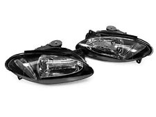 DEPO Black Housing Euro Crystal Clear Headlights for 1997-2003 Ford Escort ZX2