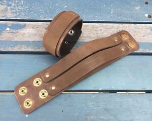 Real Leather Strap Wristband Bracelet Choice of Colours & Widths Hand Made Cuffs