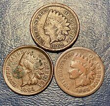 1864L 1864 Bronze & 1864 Copper Indian Head Cent Set