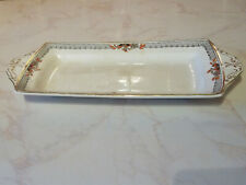 ANTIQUE ALFRED MEAKIN GILDED IRONSTONE SANDWICH TRAY c1891-1897