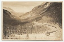 Lower Spiral Tunnel FIELD British Columbia Canada Harmon Real Photo Postcard 943