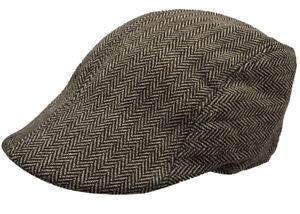 Herringbone Ivy Hat Stripe Gatsby Cap Golf Driving Flat Cabbie LOT Free Shipping