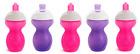 Munchkin Click Lock Cup 5pk Pink Purple 3 Straw 2 Sippy 9oz Spill Proof B284
