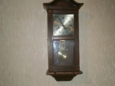 Vintage Lincoln 31 Day Movement Chiming Wood Case Wall Clock.