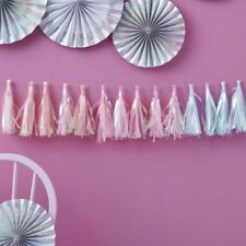 IRIDESCENT TASSEL GARLAND-UNICORN PARTY / Birthday, Wedding, Backdrop,Venue Deco