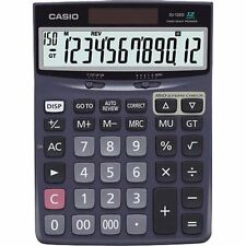 Casio Desk Calculator with Check & Correct Function - 12 Character(s) - LCD -