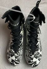 New Under Armour Highlight Men 1289772-011 Football Cleats Black White Size 8
