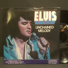 "Elvis Presley ""Unchained Melody"" RCA 7"" 45 b/w ""Softly As I Leave You"" Store Sto"