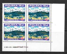 POLAND 1988 STALOWA WOLA IRONWORKS, 50TH ANNIV. CORNER BLOCK OF 4 SC # 2867 MNH