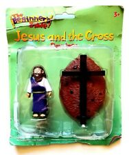 RARE 2013 JESUS AND THE CROSS FIGURE SET THE BEGINNERS BIBLE CHRIST FIGURINE TOY