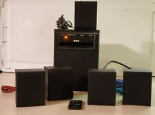 New listing Rca 5.1 Home Theater Surround Sound Speaker Sys Rt151,80 Watt,5 spkrs+sub+remote