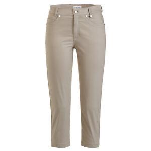 NWT Golfino Ladies Techno Stretch Capri 9061122 149 taupe pants 4 6 8 10 12 14